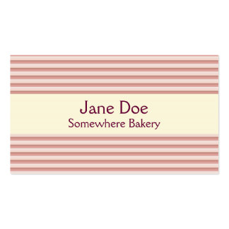 Stripes Pink Business Card