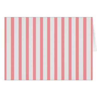 Stripes Pink & White Stationery Note Card