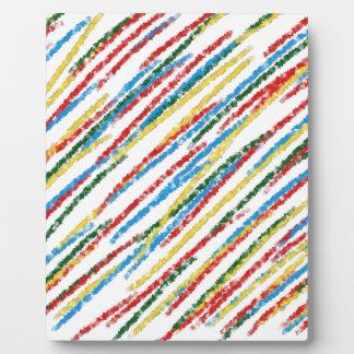 Stripes Plaque