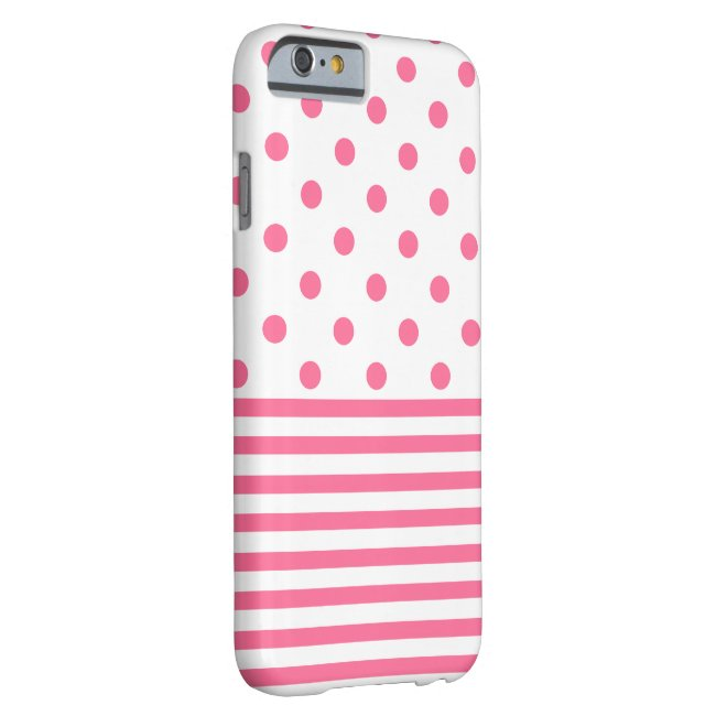 Stripes & Polkadots - Pink iPhone 6/6s, Phone Case