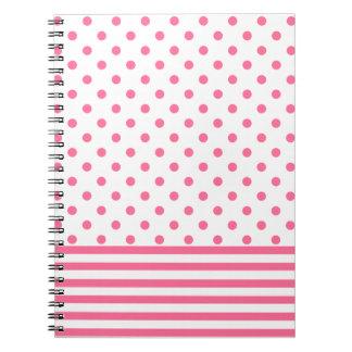 Stripes & Polkadots - Pink - Notebook