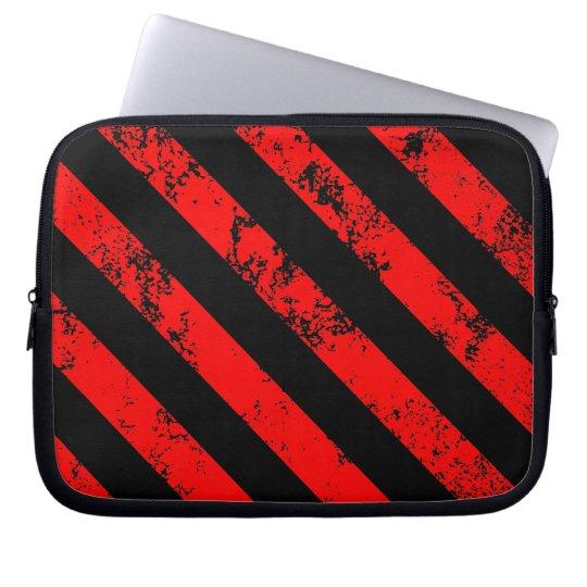 Stripes Punk / Anarchist cracked Laptop Sleeve