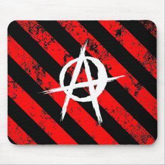 Stripes Punk Anarchist cracked symbol Mousepad