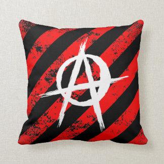 Stripes Punk/Anarchist cracked symbol Throw Pillow