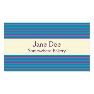 Stripes Purple Business Card