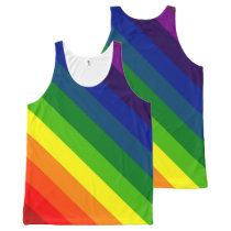 STRIPES - RAINBOW TILE 45.jpg All-Over-Print Tank Top