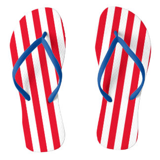 Stripes, Red, White, and Blue| DIY Color Flip Flops