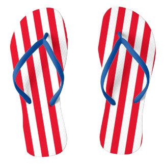 Stripes, Red, White, and Blue| DIY Color Flip Flops