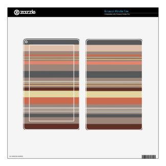 Stripes - Retro Tones Kindle Fire Skins