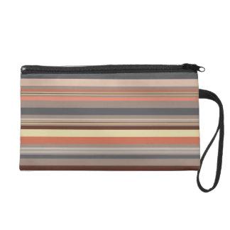 Stripes - Retro Tones Wristlet Purse