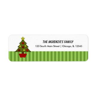 Stripes Return Address Custom Return Address Label