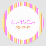 Stripes Save the Date Stickers