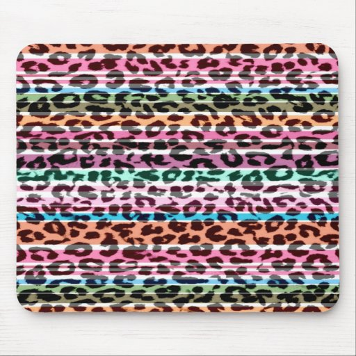 Stripes seamless animal print texture of leopard mouse pad