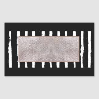 Stripes & Sequins Rectangle Sticker