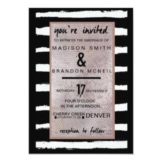 Stripes & Sequins Wedding Invitation