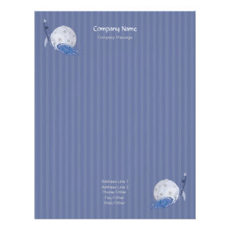 Stripes Space Stationery Letterhead