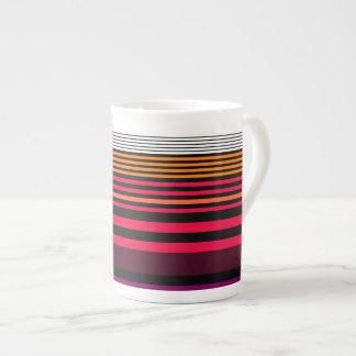 stripes bone china mugs