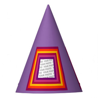 Stripes Square Frame colored 01 + your idea Party Hat