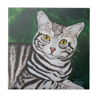 Stripes, Tabby Cat Tile