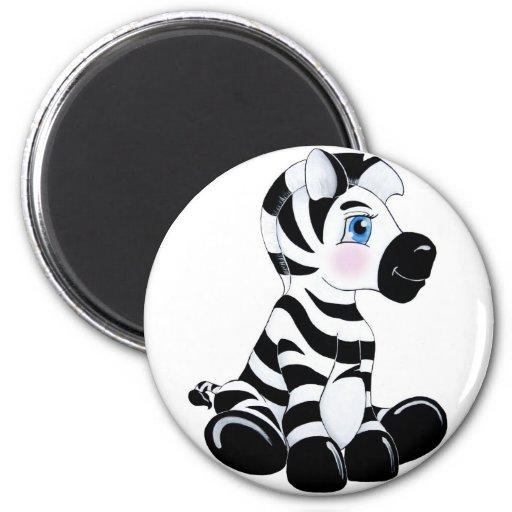 Stripes the Baby Zebra 2 Inch Round Magnet