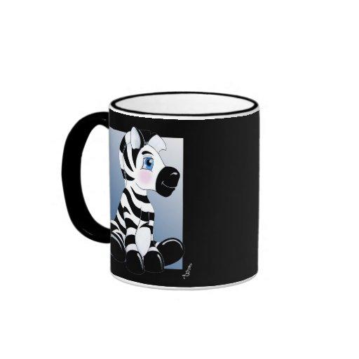 Stripes the Zebra Ringer Coffee Mug