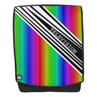 Stripes Vertical Hold Rainbow Frequency TV Bars Backpack