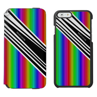 Stripes Vertical Hold Rainbow Frequency TV Bars iPhone 6/6s Wallet Case