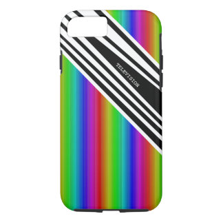 Stripes Vertical Hold Rainbow Frequency TV Bars iPhone 7 Case
