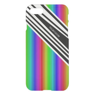 Stripes Vertical Hold Rainbow Frequency TV Bars iPhone 8/7 Case