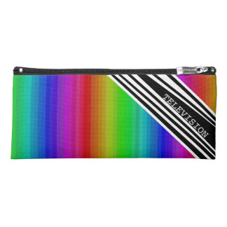 Stripes Vertical Hold Rainbow Frequency TV Bars Pencil Case