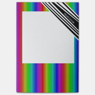 Stripes Vertical Hold Rainbow Frequency TV Bars Post-it® Notes