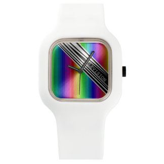 Stripes Vertical Hold Rainbow Frequency TV Bars Watch