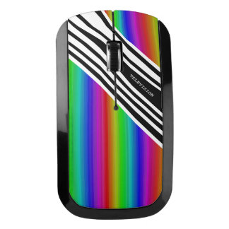 Stripes Vertical Hold Rainbow Frequency TV Bars Wireless Mouse