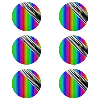 Stripes Vertical Hold Rainbow TV Color Bars Art Button Covers