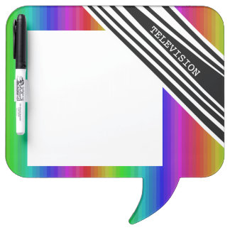 Stripes Vertical Hold Rainbow TV Color Bars Art Dry-Erase Board