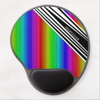 Stripes Vertical Hold Rainbow TV Color Bars Art Gel Mouse Pad
