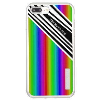 Stripes Vertical Hold Rainbow TV Color Bars Art Incipio DualPro Shine iPhone 8 Plus/7 Plus Case