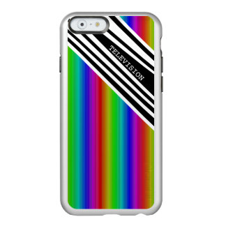 Stripes Vertical Hold Rainbow TV Color Bars Art Incipio Feather® Shine iPhone 6 Case