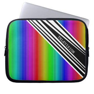 Stripes Vertical Hold Rainbow TV Color Bars Art Laptop Sleeve
