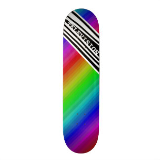 Stripes Vertical Hold Rainbow TV Color Bars Skateboard Deck