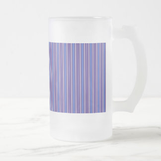 Stripes Vertical Multi Widths Blueberry Swirl Frosted Beer Mug