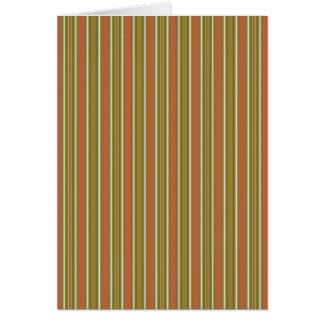 Stripes Vertical Multi Widths Orange & Lime Card