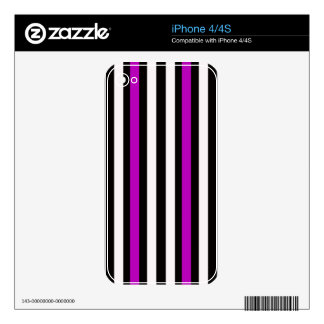 Stripes Vertical Purple Black White iPhone 4S Decal