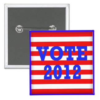 Stripes Vote 2012 Buttons