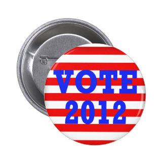 Stripes Vote 2012 Pins