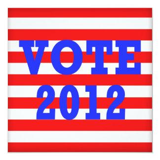 Stripes Vote 2012 Card