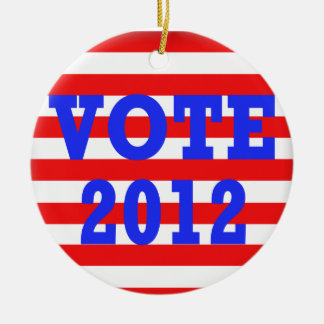 Stripes Vote 2012 Ceramic Ornament