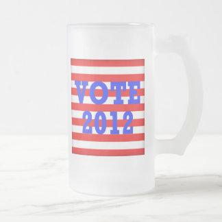 Stripes Vote 2012 Coffee Mugs