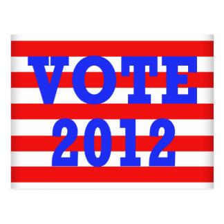 Stripes Vote 2012 Postcard