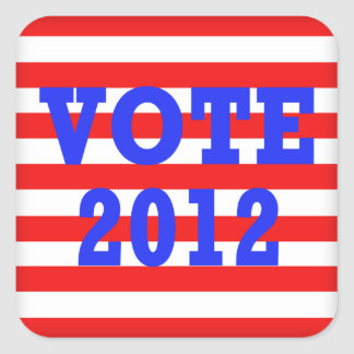 Stripes Vote 2012 Square Sticker